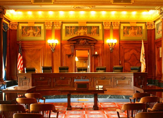 The main courtroom of the Illinois Supreme Court. - Photo by Mark Skube