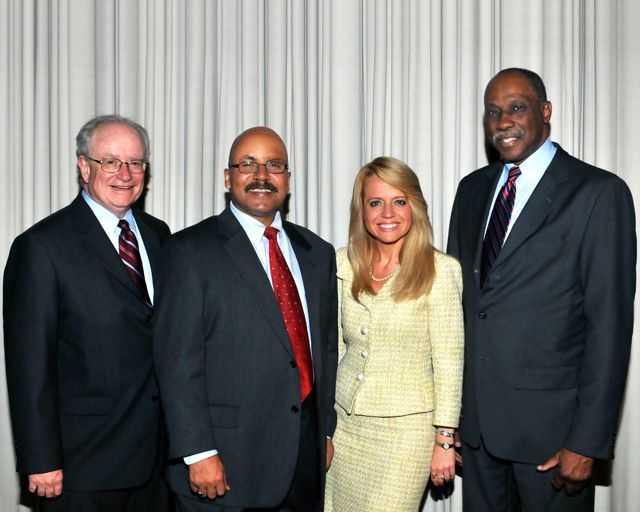 Appearing on the shows are (from left) program moderator John T. Theis, Cecil J. Hunt II, Michele M. Jochner and Hon. Leonard Murray.