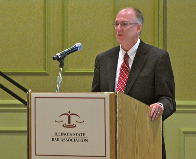 President John E. Thies addresses the Assembly on June 16 at the ISBA Annual Meeting.