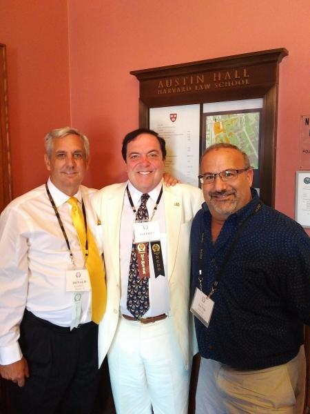 Donald Ramsell (Left) of Wheaton, ISBA Governor Stephen Komie of Chicago, and David B. Franks, Past Chair, of Woodstock.