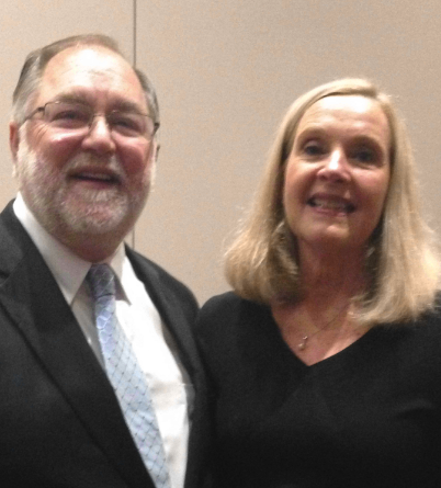 Bob Craghead, ISBA director and NABE president, with Zoe Linza, outgoing NABE president and executive director of the Bar Association of Metropolitan St. Louis