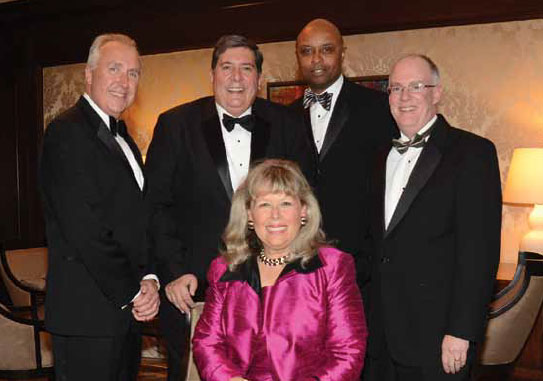 ISBA President Paula H. Holderman is joined by Second Vice-President Umberto S. Davi, President-Elect Richard D. Felice, Third Vice-President Vincent F. Cornelius and Immediate Past-President John E. Thies. Photo by Jennifer Girard