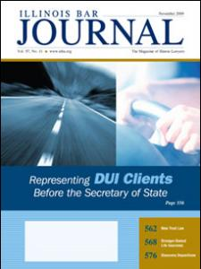 November 2009 Illinois Bar Journal Cover Image