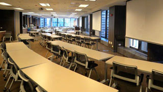 Conference Rooms A, B and C combined classroom style