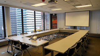 Conference Room A boardroom style