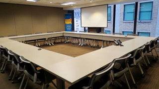 Conference Room B boardroom style