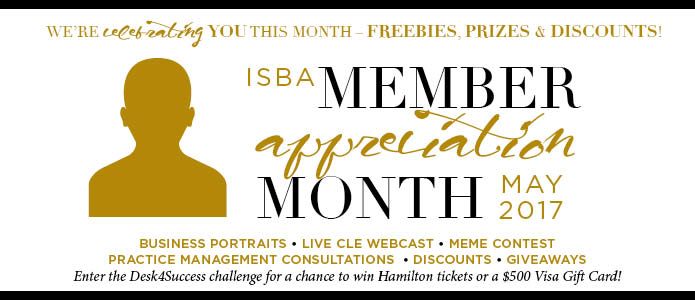 ISBA Member Appreciation Month, May 2017