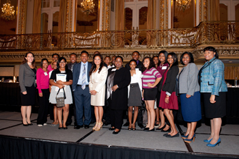 Students from Morgan Park High School in Chicago, part of a community outreach program with the Diversity Scholarship Foundation. Morgan Park's students are 95 percent African American with a 92.2 percent graduation rate.