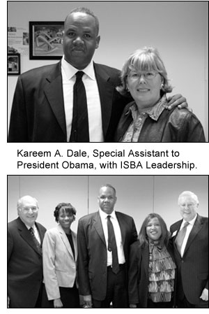 Kareem A. Dale, Special Assistanat to President Obama, with ISBA Leadership.