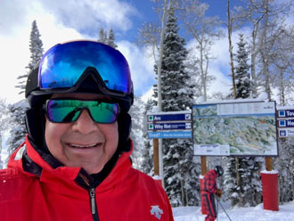Frank Ariano skiing in Steamboat Springs Colorado.