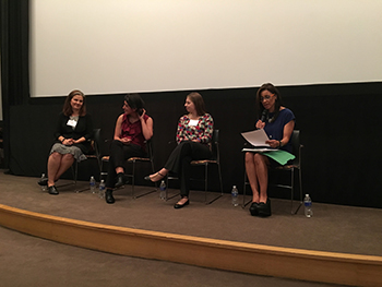 November 5 Panel featuring Kaethe Morris Hoffer, Executive Director of Chicago Alliance Against Sexual Exploitation; Olivia Ortiz, Title IX Complainant; Sofie Karasek, Co-Founder End Campus Rape; NBC News Anchor Marion Brooks.