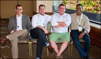 YLD's 2014-2015 Officers: Secretary George Schoenbeck III, Chair Chris Niro, Vice-Chair Jerry Napleton and Ex-Officio Jean Kenol