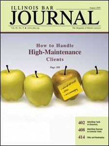 August 2005 Illinois Bar Journal Cover Image