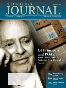 November 2007 Illinois Bar Journal Cover Image