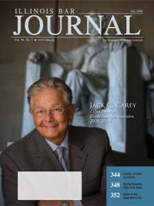 July 2008 Illinois Bar Journal Cover Image