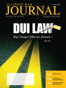 December 2008 Illinois Bar Journal Cover Image