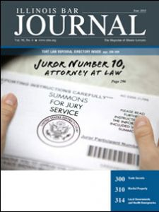 June 2010 Illinois Bar Journal Cover Image