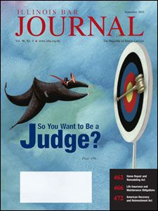 September 2010 Illinois Bar Journal Cover Image