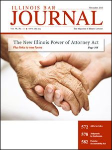November 2010 Illinois Bar Journal Cover Image