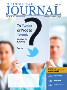 August 2011 Illinois Bar Journal Cover Image