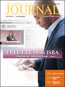 July 2013 Illinois Bar Journal Cover Image
