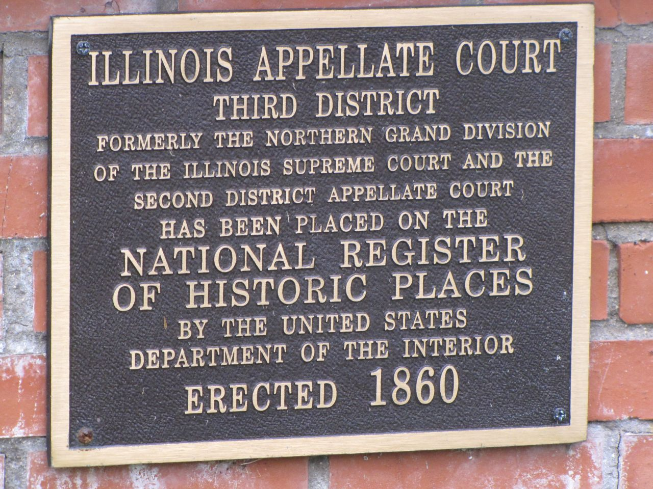 The 1860 building is on the  National Register of Historic Places.