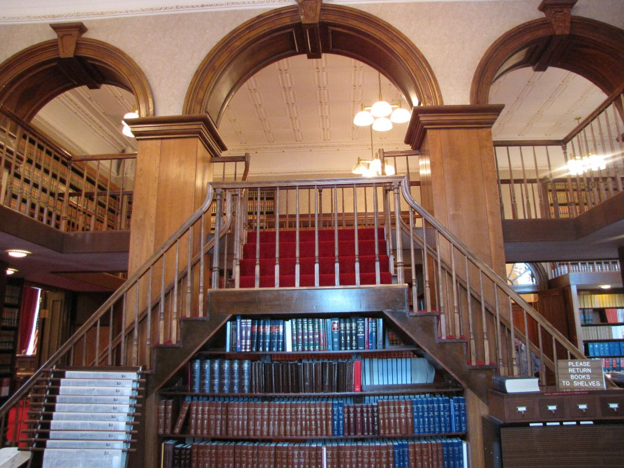 The library arches