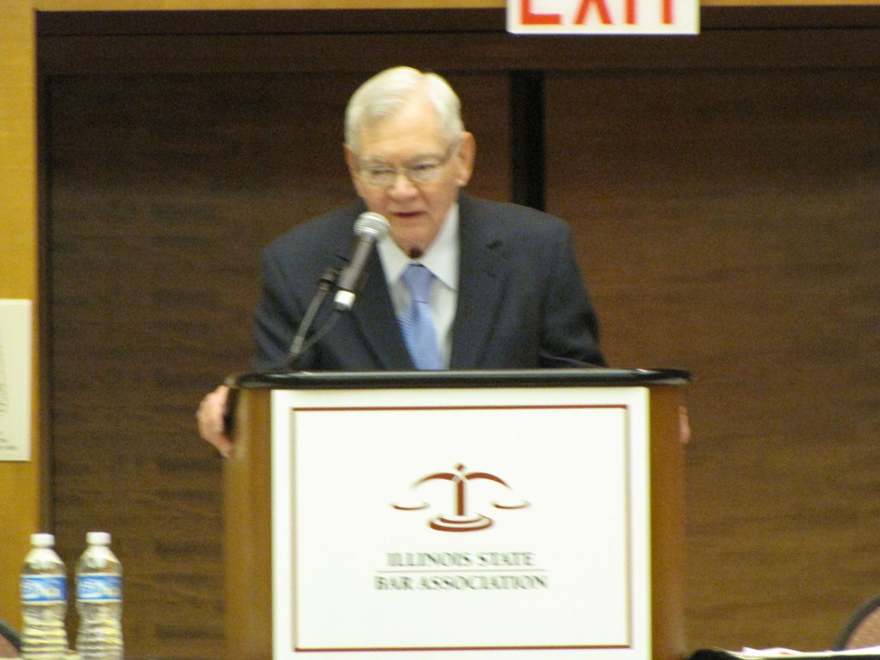 Supreme Court Chief Judge Thomas Fitzgerald addresses the Assembly