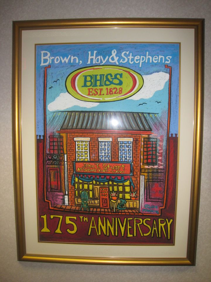 Artwork celebrating firm's 175th anniversary in 2003