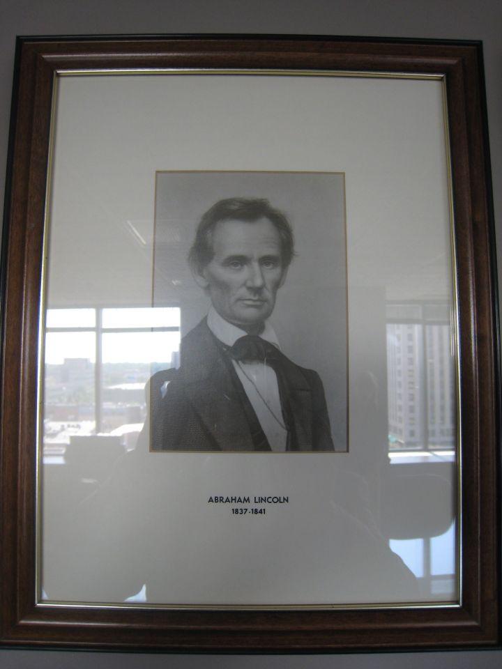 Lincoln photo in collection of firm leaders