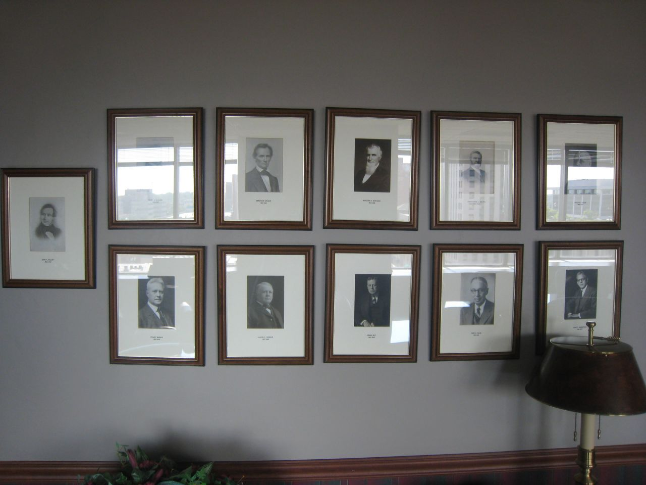 Left side of photo collage (Lincoln is top row, 2nd from left)