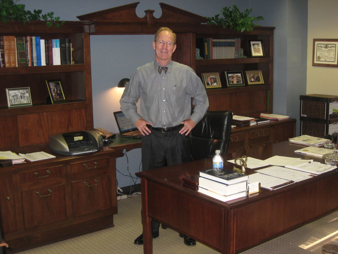 Firm partner Don Tracy in his office