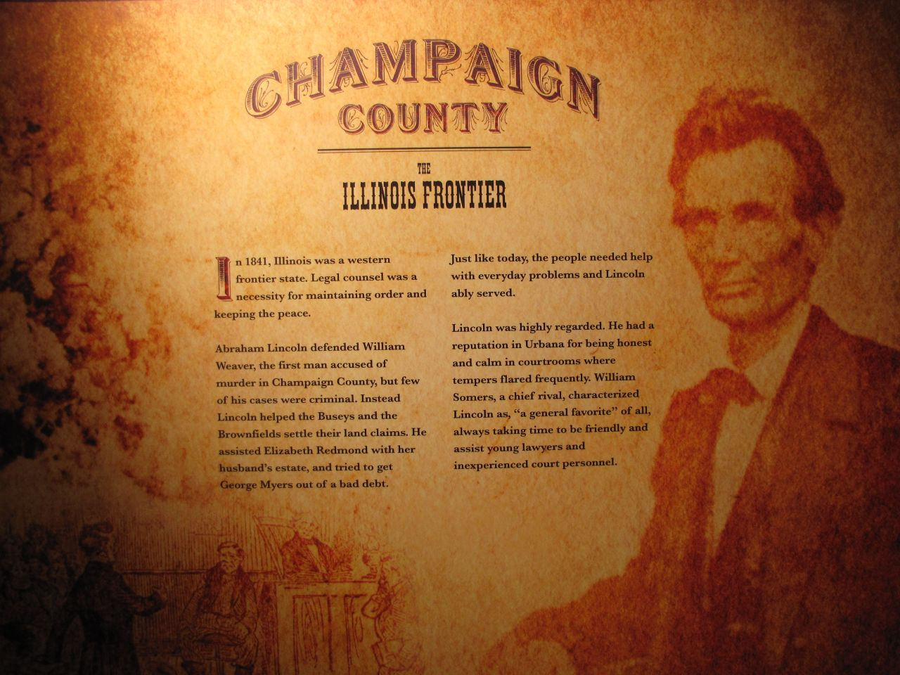 A chronicle of Lincoln's visits to Champaign County.