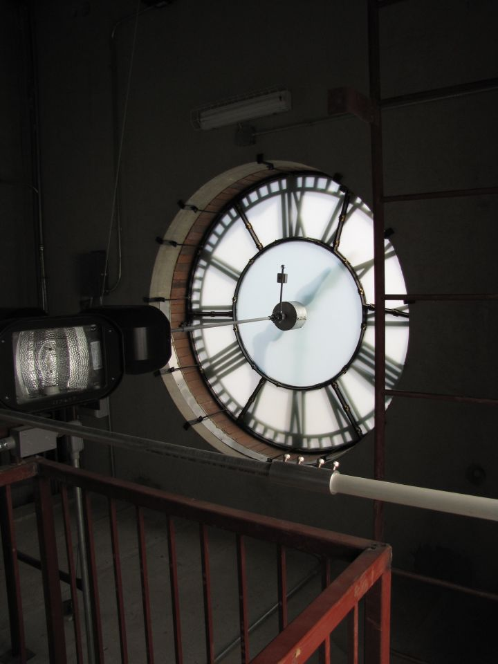 Inside the restored clock and bell tower