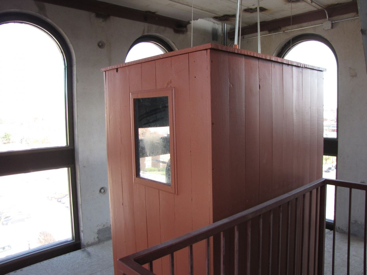 Restored housing for the mechanicals for the clocktower bell