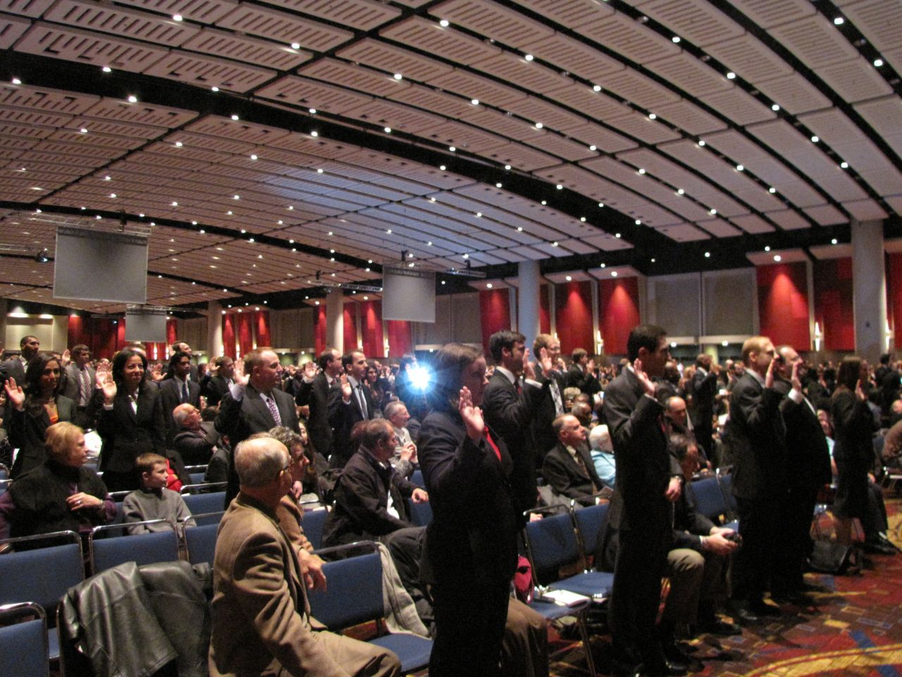 Over 1,800 new lawyers were sworn-in on Thursday at McCormick Place.