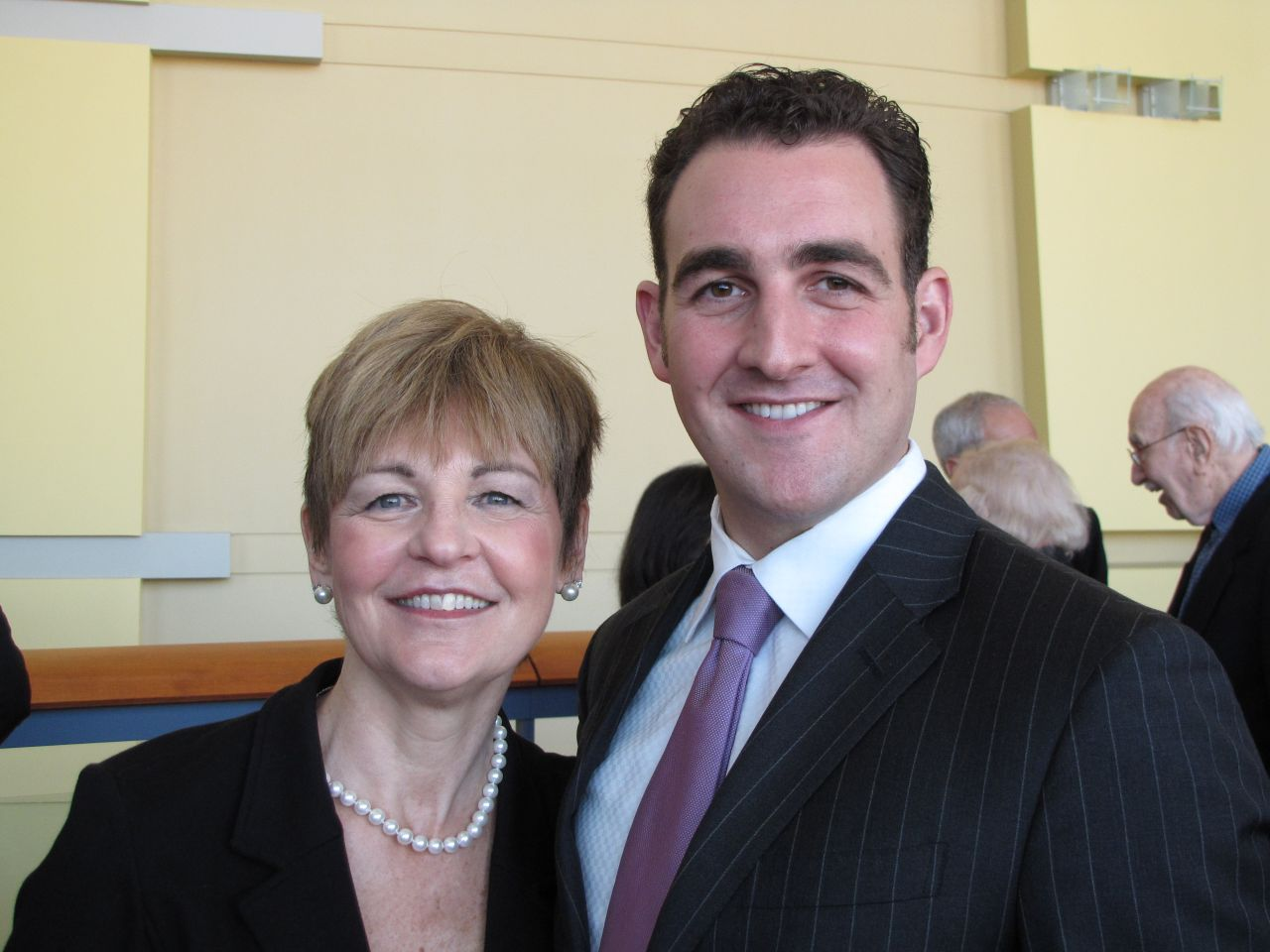 Former ISBA President Cheryl Niro with her son, Christopher, who was admitted to the bar on Thursday.
