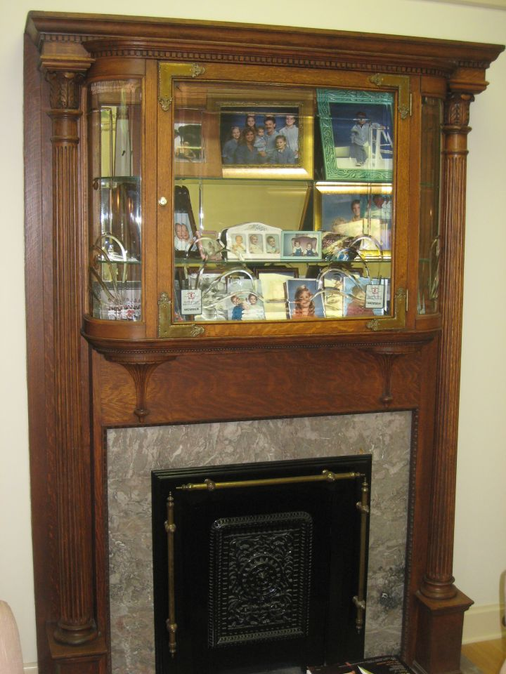 Fireplace in William Reid's office