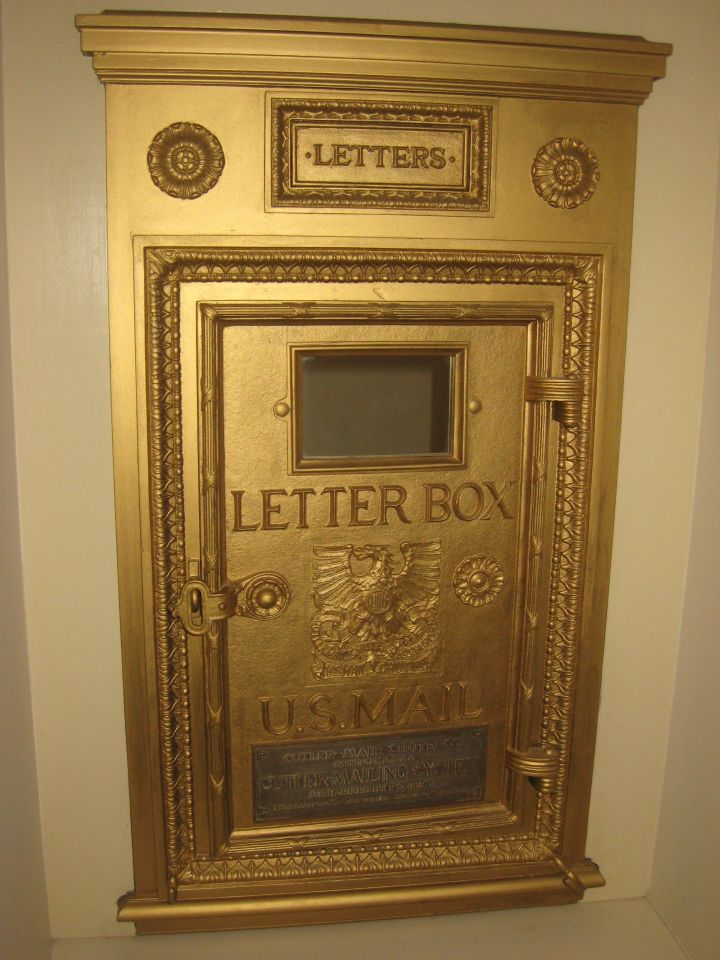 Post office letter box in Elmore & Reid hallway