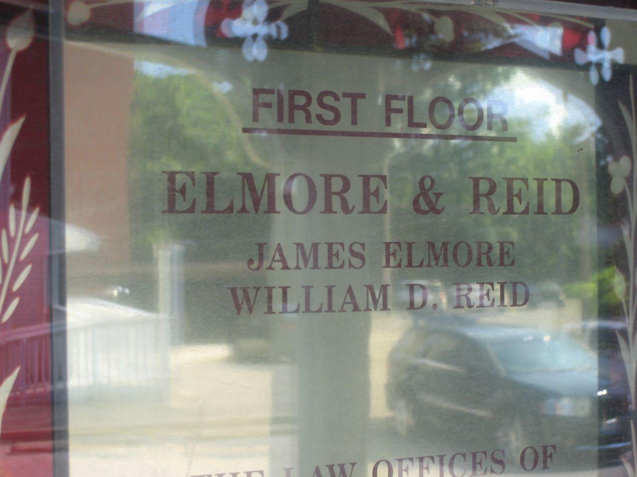 Nameplate for Elmore & Reid