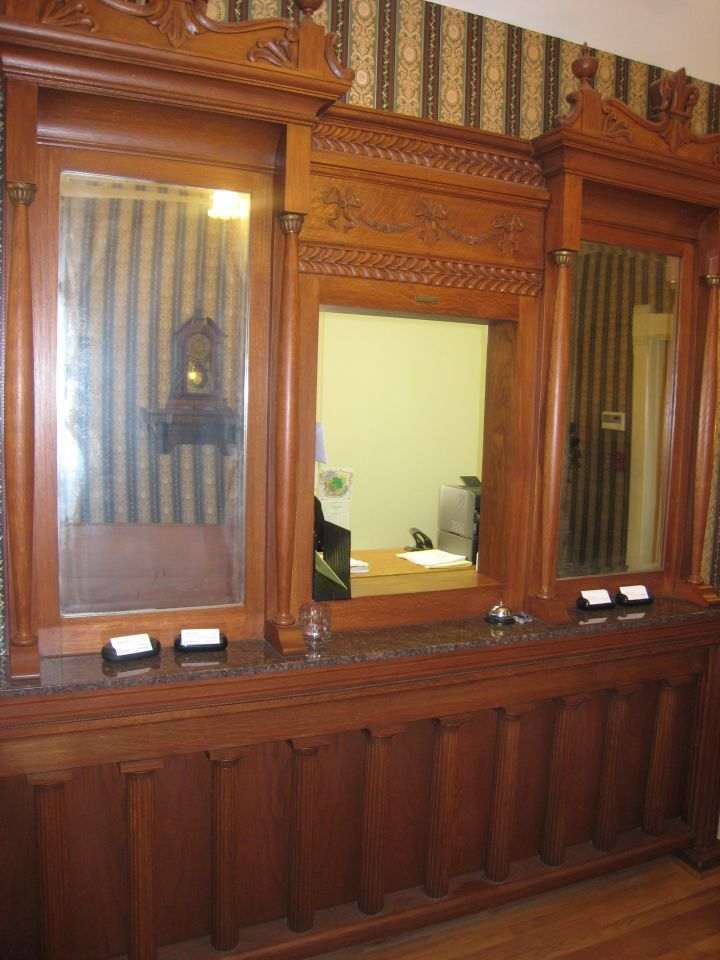 Receptionist window in Elmore & Reid lobby