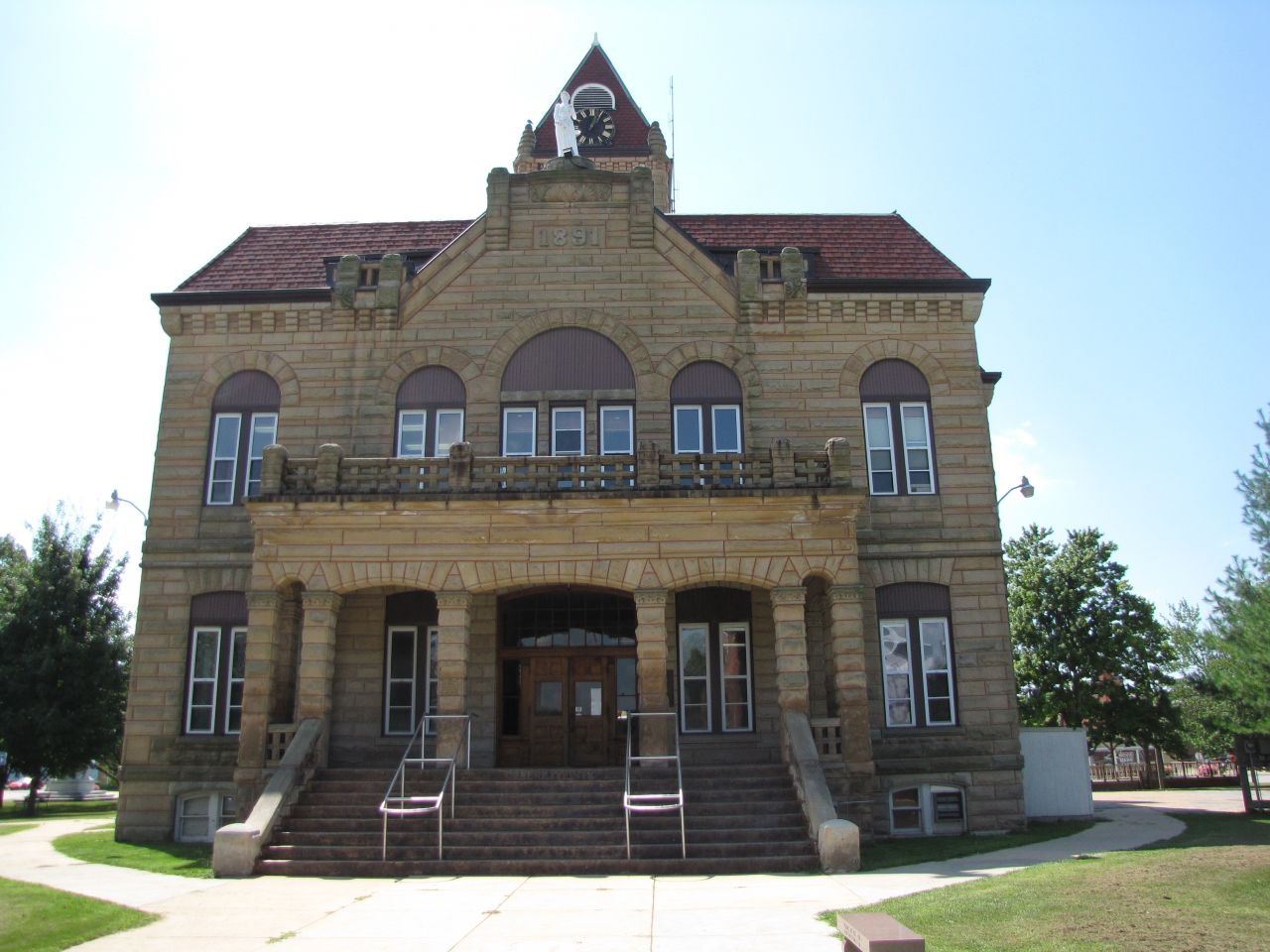 The Greene County Courthouse sits at 519 N. Main, Carrollton.