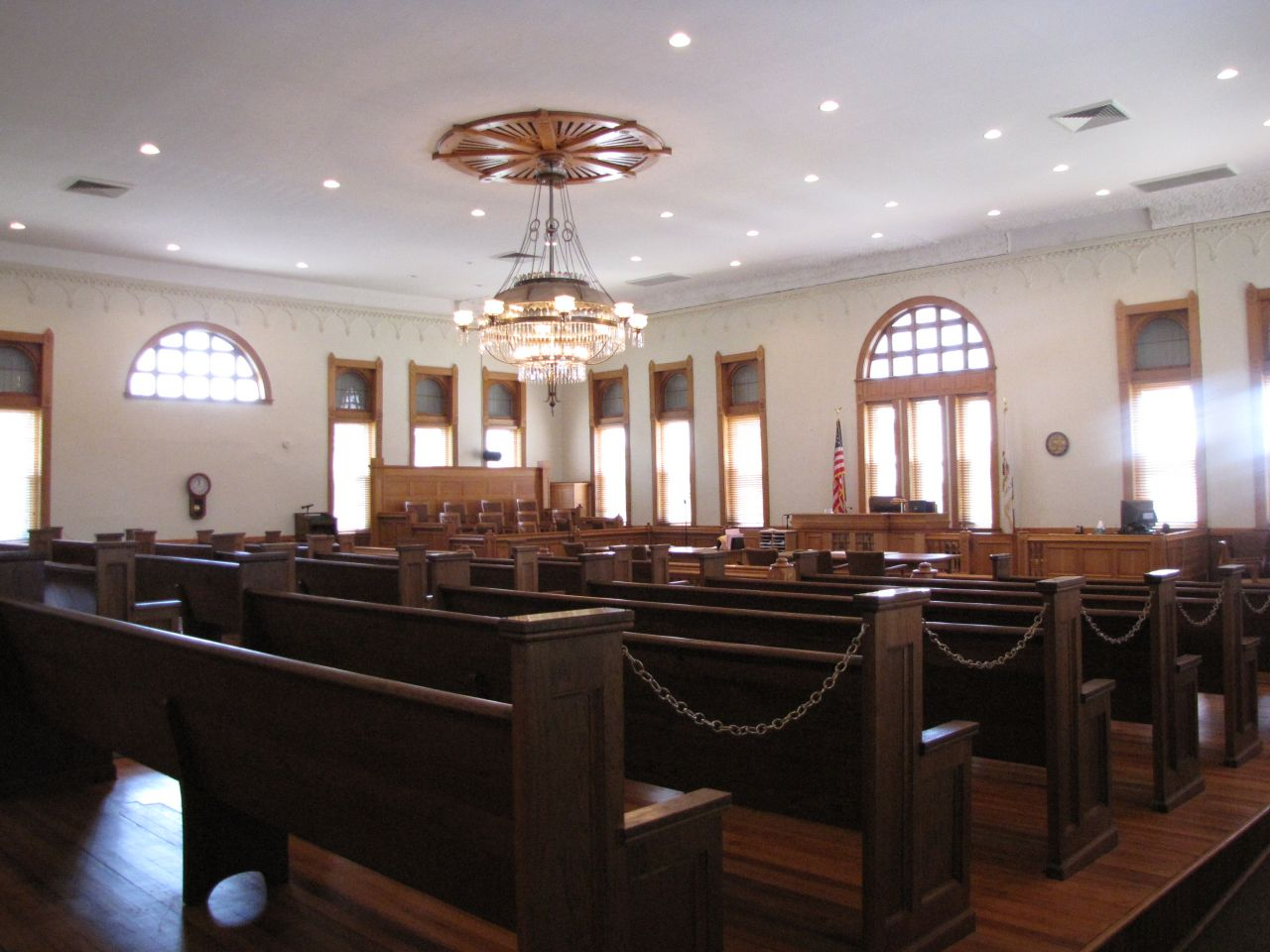 The restored main courtroom