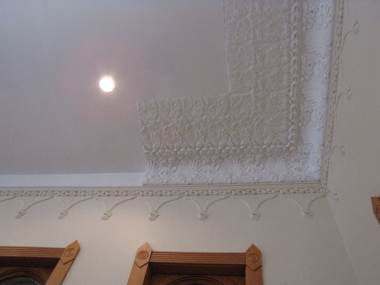 The roof was restored but sections that fell in have proved difficult to replicate.