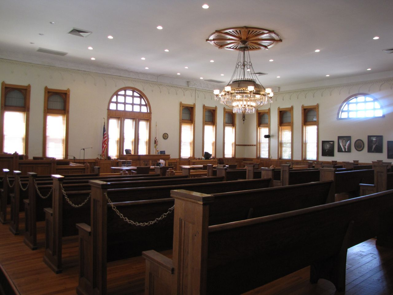 Main courtroom view