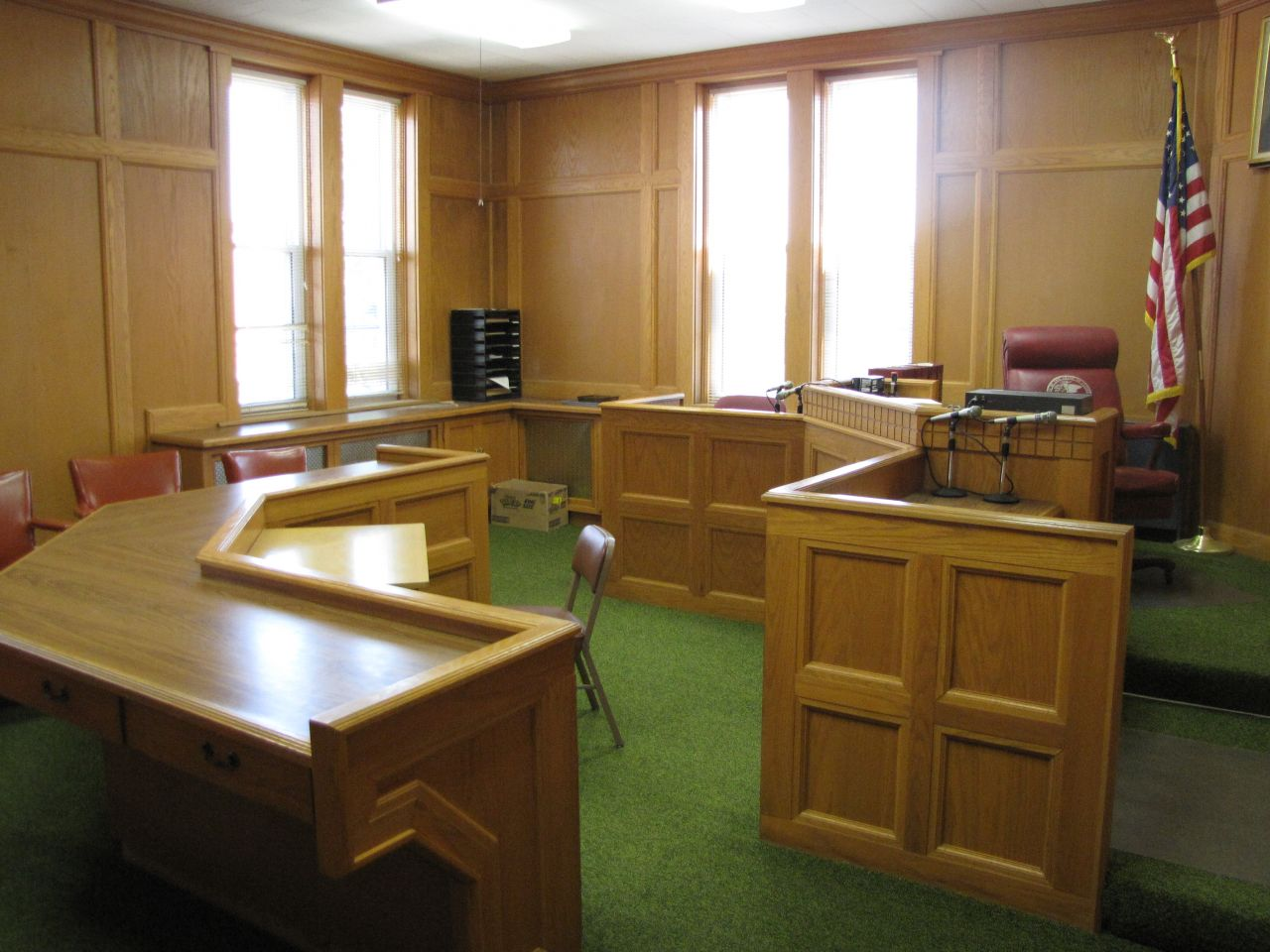 Small courtroom