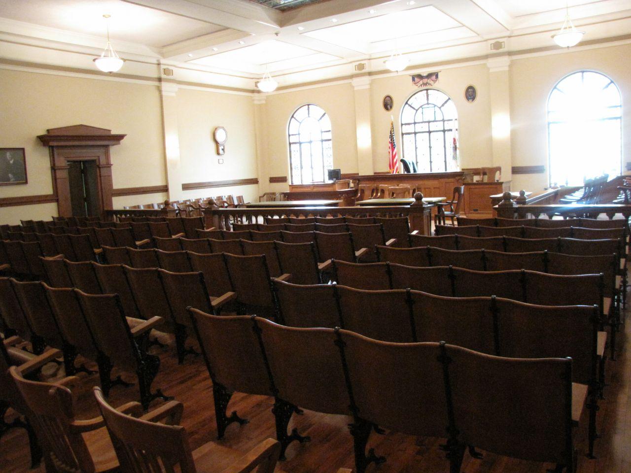 Historic Courtroom corner view