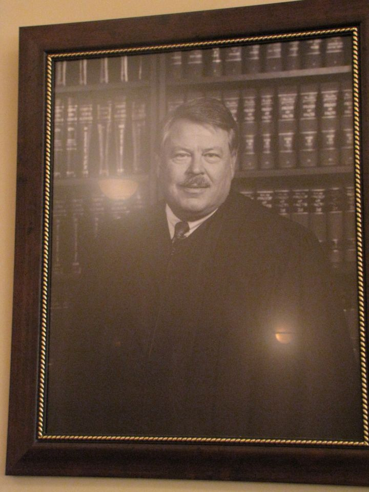 Judge Robert Adcock requested that his wake be held in Historic Courtroom - and it was
