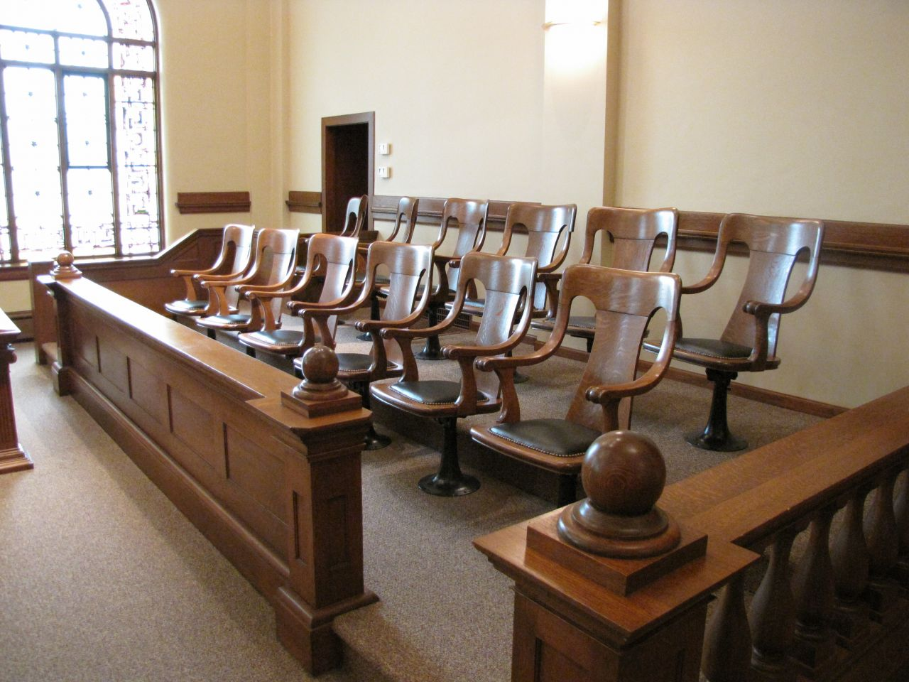 Historic Courtroom jury box