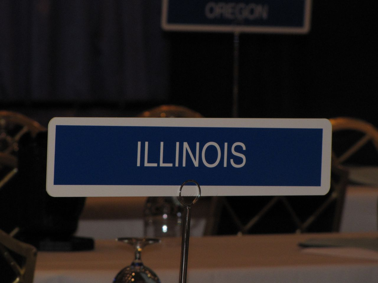 The Illinois delegation had a prominent spot front and center